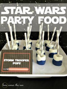 Star Wars food - Storm trooper pops
