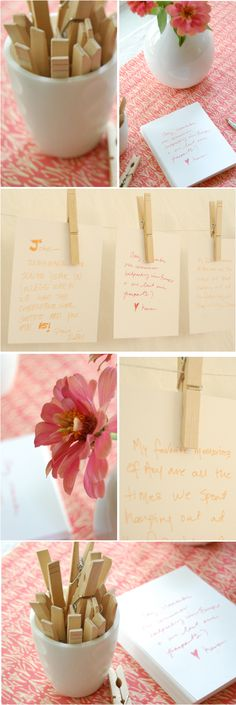 Story Line Idea: have guests write favorite memories of bride/groom and place them on a timeline.