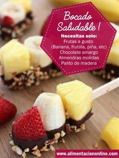 Bocados rápidos y saludables #dieta #niños #frutas #dulces #snack