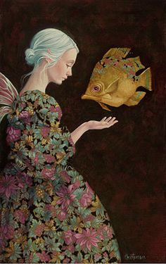 "windypoplarsroom:    James Christensen  ""Finding Your Fish"""