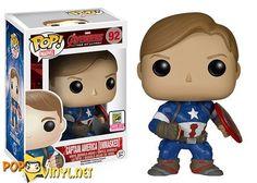 San Diego Comic Con Exclusive:    Unmasked Captain American