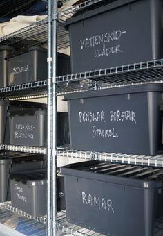 Förvaringslådor för garaget