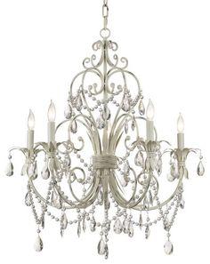 Chateau Vieux Collection Antique White Five Light Chandelier Kathy Ireland http://smile.amazon.com/dp/B000E8D6YU/ref=cm_sw_r_pi_dp_40vAub1ERZ63R