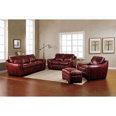 Burbank 4-piece Top Grain Leather Set  sc 1 st  Pinterest : nouveau top grain leather sectional - Sectionals, Sofas & Couches