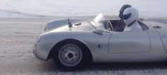 And now, the moment you've been waiting your whole life for: here's Darth Vader and the Stig driving a Porsche 550 Spyder in the snow.