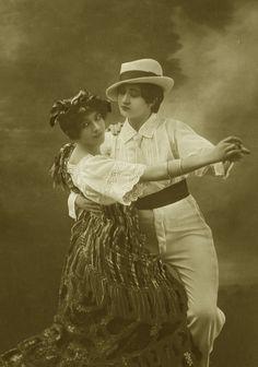 Vintage ladies dancing tango by MementoMori-stock.deviantart.com on @deviantART