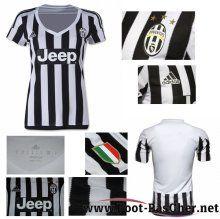 Maillot De Foot Juventus Noir/Blanc Femme Domicile 15 2016 2017 Pas Chere