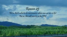 UNOMissions - McCurdy - Missionary - International Ministries - Dominican Republic - ALL are called to be a missionary - Sugar cane field - Mountains