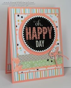 Stampin' Up Starburst Sayings stamp set and Starburst Framelits; Sweet Sorbet DSP & Sweet Sorbet Accessory Pack from 2014 Sale-A-Bration
