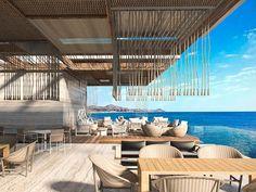 Solaz_Los Cabos Cabo San Lucas, Beach Apartment Decor, Beach Club Resort, Sky Garden, Restaurant Design, Hotels And Resorts, Caribbean, City, Building