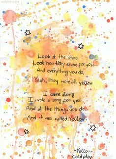 Coldplay - Yellow.