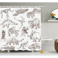 19 best dinosaur bathroom images dinosaurs shower curtains rh pinterest com