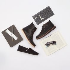 Shop back to school essentials for him: The Classic, Searcher Boot, Chukka and #TOMSeyewear collection.