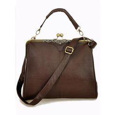 Brown Vintage Satchels Bag With Studded$41 ($41) found on Polyvore