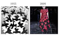 M. C. Escher, 1955 and Alexander McQueen, 2009