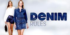 Alles dreht sich jetzt um den lässigen Jeans-Stoff! #fashion #trends #designer