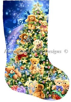 click here to view larger image of Stocking Teddy Bear Tree (chart)