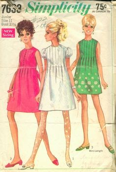 Boy, does this one bring back memories?? I had the very same dress made with royal blue doubleknit!!