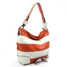 Classic Striped Shoulder Handbag
