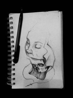 Быть святым уж вряд ли выйдет, а вот уйти спокойно, зная, что сделал все, что хотел это выйдет #32daytattoo #эскиз #тату #рисунок #карандаш #эскизтату #смерть #череп #sketch #art #drawing #tattoo #tattoosketch #death #skull