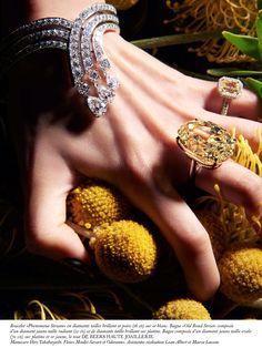 At spectacular Phenomena Stream Bracelet, Yellow Diamond Ring and Aura Yellow Diamond Ring make a breathtaking trio in the Gems Jewelry, I Love Jewelry, Jewelry Art, Diamond Jewelry, Jewellery, Glitter Rocks, Yellow Diamond Rings, Beauty Magic, Shades Of Yellow