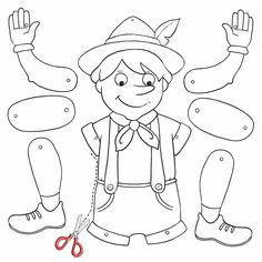 Image Gallery – Page 338966309450593009 - Diy Crafts - Hadido - moonfer Pinocchio, Craft Projects For Kids, Diy Crafts For Kids, Preschool Art, Preschool Activities, Diy Crafts Images, Fairy Tale Activities, Certificate Design Template, Paper Puppets