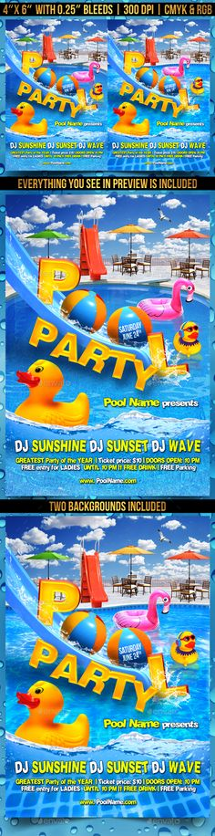 Summer Party Flyer Template Psd  Awesome Summer Party Flyers