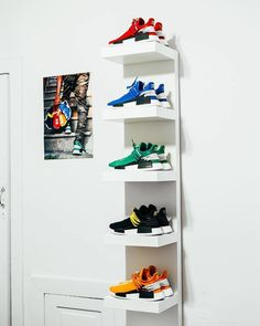 All of the human race nmd Hypebeast Room, Sneaker Storage, Ikea Lack Shelves, Shoe Room, Shoe Display, New York Fashion, Teen Fashion, Runway Fashion, Fashion Models