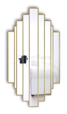 Romance Original Handcrafted Art Deco Wall Mirror - Art Deco - Mirrors