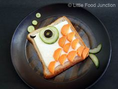 Fishy fishy - Bread, cheese, carrot, cucumber, olives
