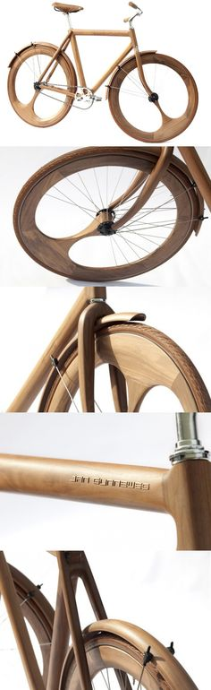 Wooden Bike by Jan Gunneweg...great product : creative & beautiful ;)