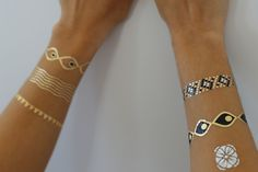TribeTats Metallic Jewelry Tattoos -- Bracelets Collection <3  Shop the Look @ www.tribetats.com