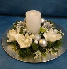 Silver-white Cetrotavola #cetrotavola #silver #Weihnachtsdekorationen #white