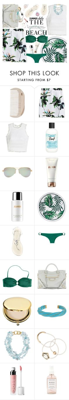 """Beach Love"" by hollowpoint-smile ❤ liked on Polyvore featuring HAY, Proenza Schouler, Rebecca Taylor, H&M, Tiffany & Co., Giuseppe Zanotti, J.Crew, Balenciaga, Estée Lauder and Aurélie Bidermann"