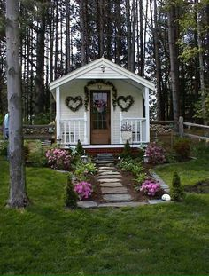 """Darling little she'd for Valentines' Day!!! Bebe'!!! One can dream of a little """"Play House"""" even though they're an adult !!!"""