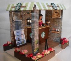 you are finding The barbie coffee shop diy Photo. You Can save This barbie coffee shop diy Wallpaper easy to your smartphone. enjoy it! Kids Doll House, Dolls House Shop, Doll House Plans, Doll Shop, Doll Houses, Barbie Room, Barbie Doll House, Barbie Dolls, Barbie Clothes