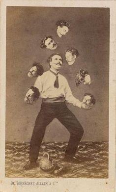 Santo Tomás de Aquino, el hombre hace juegos malabares su propia cabeza, De Torbéchet, Allain & C., ca. 1880, Colección de Christophe GOEURY, el Museo Metropolitano de Arte.