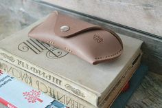 Leather glasses case handmade thick genuine leather. by inSidegift