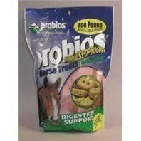 Probios Horse Treat Peppermint 1 lb. by Hansen, Chris. $4.09. 1 POUNDS. For Intermittent Or Supplemental Feeding Onlypeppermint Flavor Digestion Support - Specially Formulated To Relieve Bad Gas  Diarrhea  Colic  Chronic Intestinal Disorders  And For Overall Wellness.Wheat Flour  Rolled Oats  Soy Oil  Molasses  Carrots  Celery  Beets  Peppermint  Parsley  Lettuce  Water Cress  Dried Bacillus Subtilis Fermentation Product  Dried B. Licheniformis Fermentation Product  Na Alumino S...