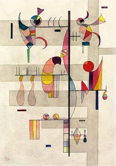 The artwork Verteilung - Wassily Kandinsky we deliver as art print on canvas, poster, plate or finest hand made paper. Wassily Kandinsky, Abstract Watercolor, Abstract Art, Abstract Landscape, Kunst Poster, Abstract Words, Art Abstrait, Bauhaus, Oeuvre D'art