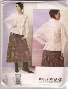 Details: Misses'Top and Skirt. Vogue Patterns No. 2761. Issey Miyake. Size: 14 -18. | eBay!