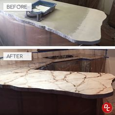 Our how-to instructions make refinishing an existing countertop well within reach of most homeowners. The technique is relatively inexpensive compared to other countertop options. With the right products and easy-to-understand instructions, even a novice can successfully complete a countertop refinishing project and be delighted with the results. Poured Concrete Countertop, Epoxy Countertop Kit, Resurface Countertops, Cost Of Countertops, Concrete Sealer, Countertop Options, Concrete Kitchen, Kitchen Countertops, Concrete Overlay