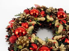 Christmas Home Decor – Christmas wreath – a unique product by Zielonepalce on DaWanda