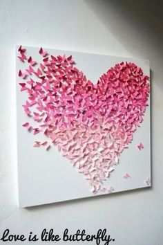 3-D butterfly painting for the girls room! I'm soooo making this