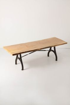 """Lever & Lumber Table - Anthropologie -  28.75-30.5""""H, 92-102""""W, 32-42""""D"""