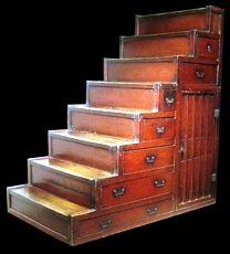 Anese Step Chest Staircase Storage Stair Bauhaus House Style