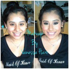 Make by Vanessa Haro prom, dance, formal,bride, bridal, glam, glow, contour, highlight, lashes, smokey eye, nude lip, hair, curls, volume, makeup, makeup artist
