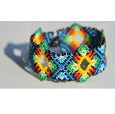 Huicholean rumbus bracelet by ColourMexico on Etsy