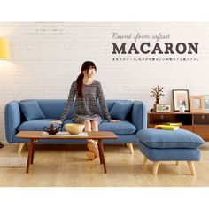 PO Multi-Color Scandinavian/ Nordic 2/ 3 Seater Sofa with Foot Stool on Carousell