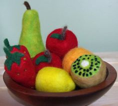 Deluxe Fruit Variety needle felted play food by by NikoandNonnie, $60.00